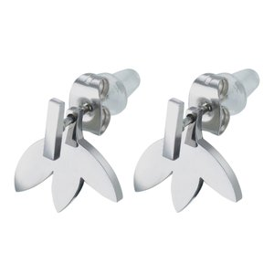 Earrings Stainless Steel PVC Flower Leaf Plant_pattern