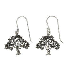 Ohrhänger Silber 925 Blatt Pflanzenmuster Florales_Muster