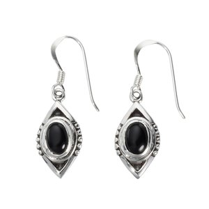 Oorhangers Zilver 925 Zwarte onyx
