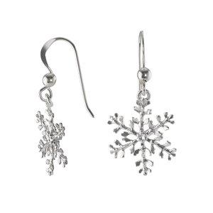 Ohrhänger Silber 925 Schneeflocke