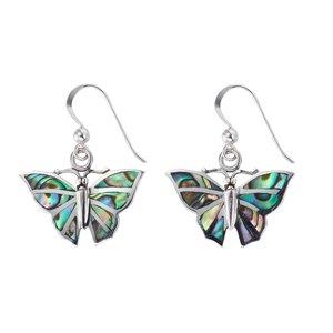 Orecchini Argento 925 Conchiglia Farfalla