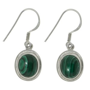 Dangle earrings Silver 925 Malachite