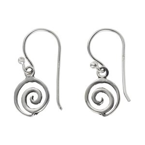Dangle earrings Silver 925 Spiral