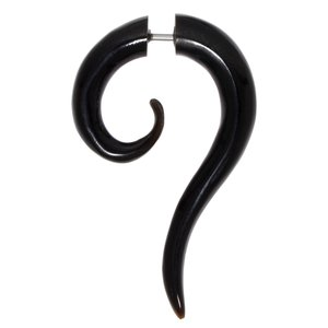 Fake plug Surgical Steel 316L Buffalo horn Spiral