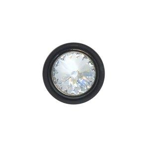 Fake-Plug Chirurgenstahl 316L Kristall PVC PVD Beschichtung (schwarz)