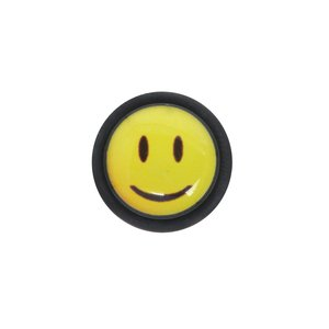 Fake plug Acrylic glass Surgical Steel 316L Glass PVC Smiley Smilie Smily