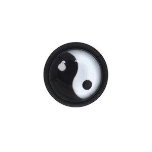 Fake-Plug Vetro acrilico Metallo chirurgico 316L Vetro PVC Yin_Yang Taijitu