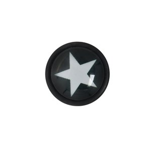 Fake plug Acrylic glass Surgical Steel 316L Glass PVC Star