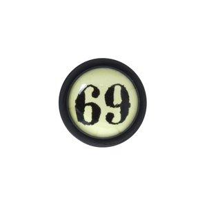 Fake-Plug Vetro acrilico Metallo chirurgico 316L Vetro PVC Lettera Numero Cifra