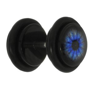 Fake plug Acrylic glass Surgical Steel 316L Glass PVC Eye Iris Pupil