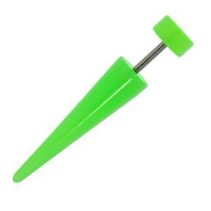 Fake-Plug Verre acrylique Acier chirurgical 316L