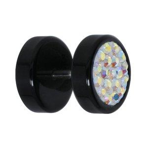 Fake-Plug Acrylglas Chirurgenstahl 316L Kristall