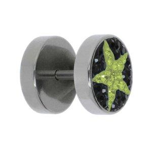 Fake-Plug Chirurgenstahl 316L Kristall Stern