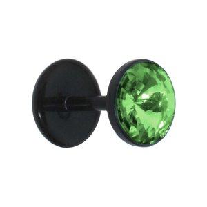 Fake plug Acrylic glass Bioplast Swarovski crystal