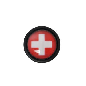 Fake plug Acrylic glass Surgical Steel 316L PVC Cross Switzerland