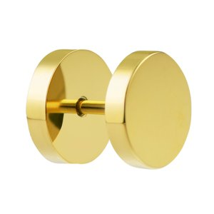 Fake plug Surgical Steel 316L PVD-coating (gold color)