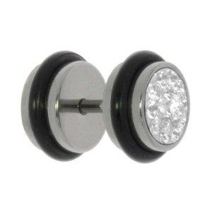 Fake-Plug Metallo chirurgico 316L Cristallo Swarovski PVC