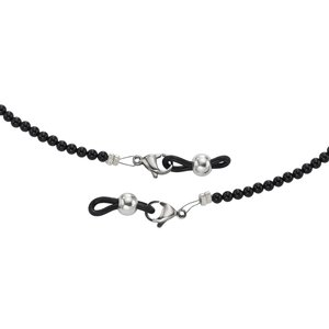 Spectacle chain Silver 925 Plastic Black onyx