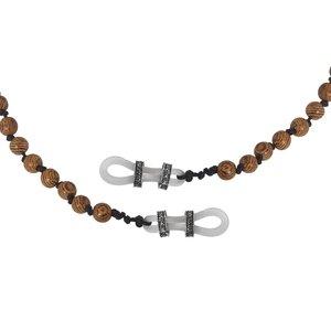 Brillenkette Wenge-Holz Silber 925 Kunststoff
