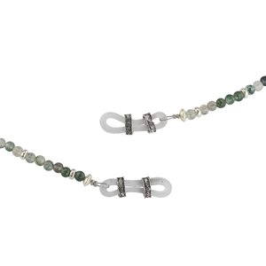Spectacle chain Agate Silver 925 Plastic
