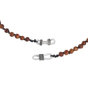 Spectacle chain Rose wood Silver 925 Plastic