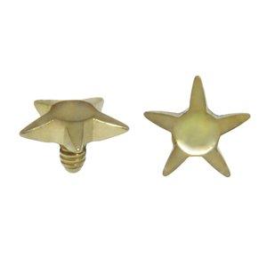 Dermal-Anchor Aufsatz Chirurgenstahl 316L PVD Beschichtung (goldfarbig) Stern