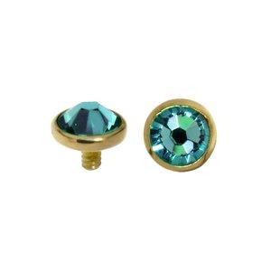 Dermal-Anchor Aufsatz Gold 18K Kristall