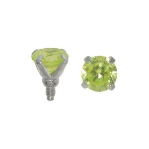 Embout Dermal-Anchor Acier chirurgical 316L Cristal