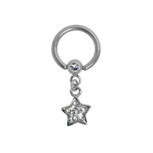 Genital piercings Surgical Steel 316L Swarovski crystal Epoxy Star