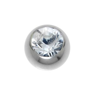 Piercingball Surgical Steel 316L Swarovski crystal