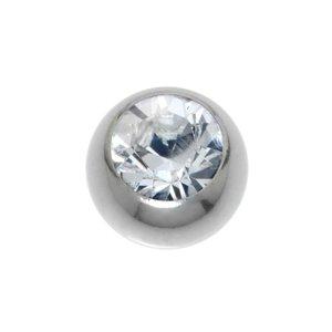 Cierre de piercing Acero quirúrgico cristales de Swarovski