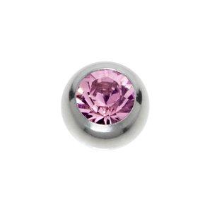 piercingsluiting Chirurgisch staal 316L Swarovski kristal