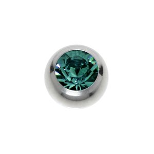 Chiusura piercing Metallo chirurgico 316L Cristallo Swarovski