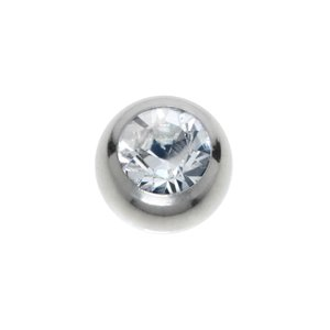 Embout de piercing Acier chirurgical 316L Cristal Swarovski