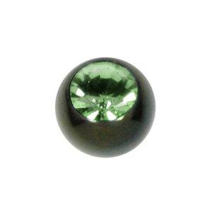 Piercingverschluss Chirurgenstahl 316L Hochwertiger Kristall PVD Beschichtung (schwarz)