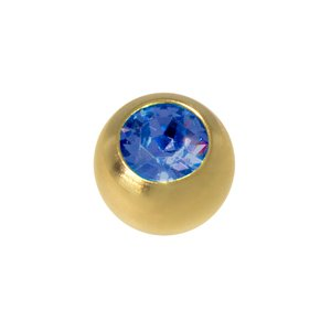 Piercingball Surgical Steel 316L Gold-plated Crystal