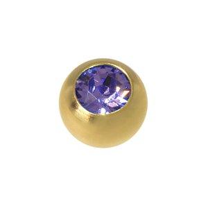 Cierre de piercing Acero quirúrgico Revestido de oro Cristal