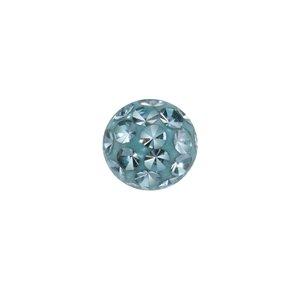 Cierre de piercing Cristal Acero quirúrgico epoxy