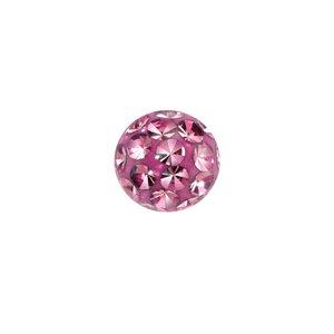 Piercingverschluss aus Chirurgenstahl 316L mit Kristall und Epoxiharz. Gewinde:1,6mm. Durchmesser:5mm. Gewicht:0,207g. Kristall Chirurgenstahl 316L Epoxiharz