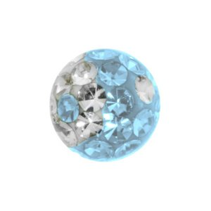Piercingball Swarovski crystal Surgical Steel 316L Epoxy Yin_Yang Taijitu