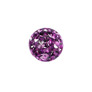 Piercingball Crystal Surgical Steel 316L Epoxy
