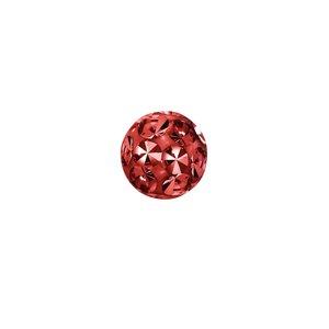 Piercingverschluss aus Chirurgenstahl 316L mit Kristall und Epoxiharz. Gewinde:1,6mm. Durchmesser:4mm. Gewicht:0,098g. Kristall Chirurgenstahl 316L Epoxiharz