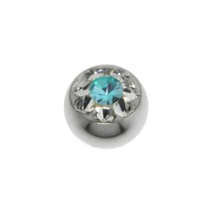 Piercingball Surgical Steel 316L Swarovski crystal Flower