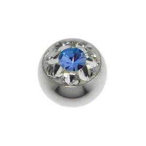 Chiusura piercing Metallo chirurgico 316L Cristallo Swarovski Fiore