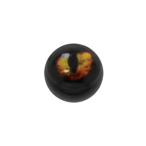 Piercingverschluss Acrylglas Epoxiharz Auge Iris Pupille