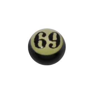 Piercingball Epoxy Letter Character Number