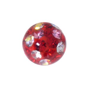 Piercingball Surgical Steel 316L Crystal Epoxy