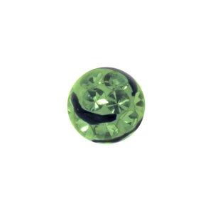 Chiusura piercing Metallo chirurgico 316L Cristallo Resina epossidica Onda Striatura Banda Incavo