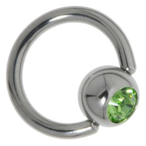 Piercing attachment Surgical Steel 316L Crystal