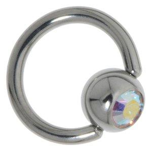 Chiusura piercing Metallo chirurgico 316L Cristallo
